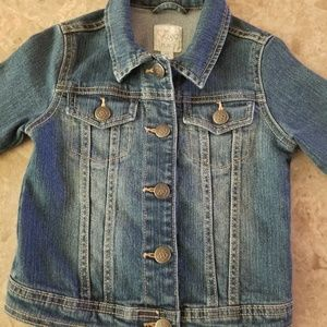 ❤Childrens place girls jean jacket size 5/6